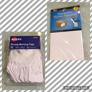 NWT 118 SHIPPING LABELS TAGS STRUNG MARKING BUNDLE